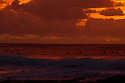 Bodyboarders at Sunset at North Point in Gracetown in Western Australia.