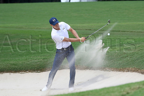 23.09.2016. Atlanta, Georgia, USA.   Jordan Spieth hits out of the bunker during the second round of the 2016 PGA Tour Championship at East Lake Golf Club in Atlanta, Georgia.