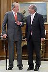 King Juan Carlos I of Spain attends in audience to Gay Montella Ferre-Joaquin Vidal, President of the Organization for the Promotion of National Labor (Organizacion para el Fomento del Trabajo Nacional). June 12 ,2014. (ALTERPHOTOS/Acero)