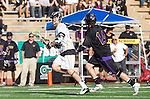 San Diego, CA 05/25/13 - Jack Pope (Westview #22) and Troy Durie (Carlsbad #14) in action during the 2013 Boys Lacrosse San Diego CIF DIvision 1 Championship game.  Westview defeated Carlsbad 8-3.