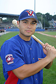August 15, 2003:  Oscar Bernazard of the Vermont Expos during a game at Dwyer Stadium in Batavia, New York.  Photo by:  Mike Janes/Four Seam Images