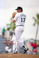 Detroit Tigers pitcher Mark Leiter (13) during Spring Training 1993 at Joker Marchant Stadium in Lakeland, Florida.  (MJA/Four Seam Images)