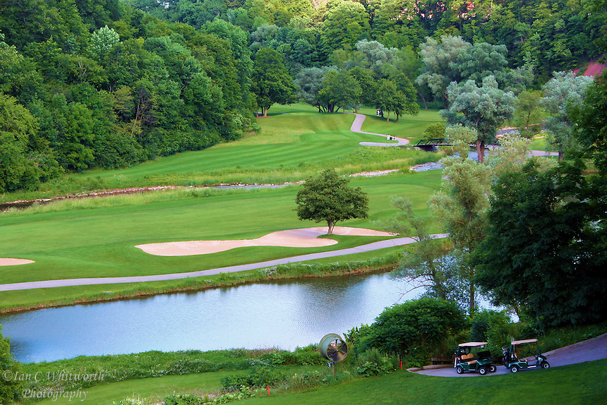 View of beautiful golf course in Ontario Canada