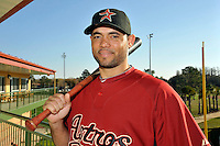 Feb 25, 2010; Kissimmee, FL, USA; The Houston Astros infielder Pedro Feliz (77) during photoday at Osceola County Stadium. Mandatory Credit: Tomasso De Rosa/ Four Seam Images