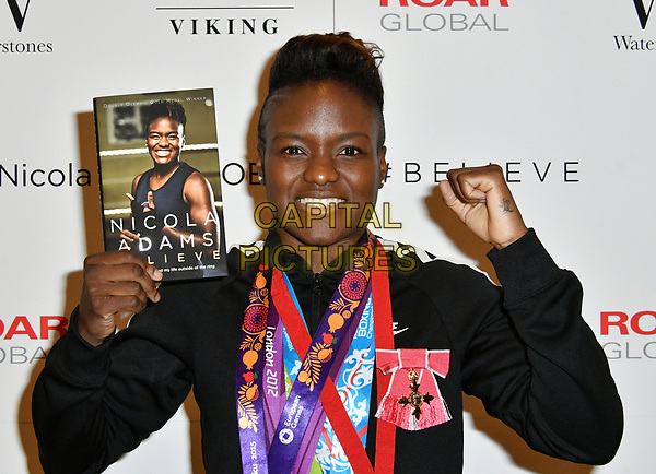 LONDON, UNITED KINGDOM - MAY 16: Nicola Adams attends a book signing of her new book 'Believe' at Waterstones Leadenhall, on May 16, 2017 in London, England.<br /> CAP/JOR<br /> &copy;JOR/Capital Pictures