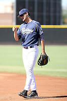 Nate Freiman - San Diego Padres - 2010 Instructional League.Photo by:  Bill Mitchell/Four Seam Images..