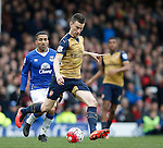 Laurent Koscielny of Arsenal during the Barclays Premier League match at The Goodison Park Stadium. Photo credit should read: Simon Bellis/Sportimage