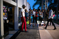 KINSHASA, DRC - JULY 23: Models rehearse a day before Kinshasa Fashion Week on July 23, 2015, at Shark club in Kinshasa, DRC. Local and invited foreign-based designers showed their collections during the yearly Kinshasa Fashion week. (Photo by Per-Anders Pettersson)