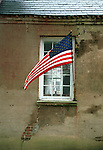 Window flag Colonial Williamsburg, Fine Art Photography by Ron Bennett, Fine Art, Fine Art photography, Art Photography, Copyright RonBennettPhotography.com ©
