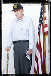 Veteran Paul Coleman poses for a photo at a Veterans Day Program at the Oxford Conference Center in Oxford, Miss. on Thursday, November 11, 2010.