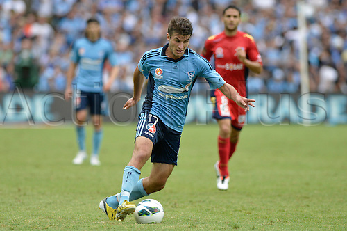 16.02.2013 Sydney, Australia. Sydney midfielder Terry Antonis in action during the Hyundai A League game between Sydney FC and Adelaide United from the Allianz Stadium.