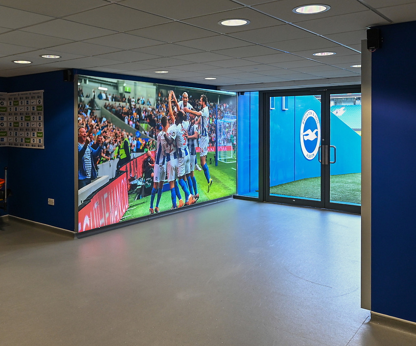 The Amex Stadium - tunnel<br /> <br /> Photographer David Horton/CameraSport<br /> <br /> The Premier League - Brighton and Hove Albion v Burnley - Saturday 9th February 2019 - The Amex Stadium - Brighton<br /> <br /> World Copyright © 2019 CameraSport. All rights reserved. 43 Linden Ave. Countesthorpe. Leicester. England. LE8 5PG - Tel: +44 (0) 116 277 4147 - admin@camerasport.com - www.camerasport.com