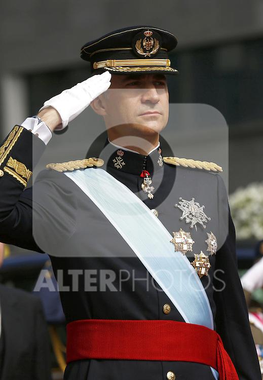 Coronation ceremony in Madrid. King Felipe VI of Spain  at Congreso de los Diputados. Madrid, June 19 ,2014. (ALTERPHOTOS/EFE/Pool)