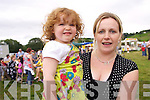 The warm and dry weather was a huge boost to the Kilgarvan Agricultural show which saw local families out in force to join in with the festivities. .L-R Alannah and Catherine O'Sullivan