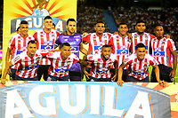 BARRANQUILLA-COLOMBIA, 02-06-2019: Jugadores de Atlético Junior, posan para una foto, antes de partido entre Atlético Junior y Deportivo Cali, de la fecha 5 de los cuadrangulares semifinales por la Liga Águila I 2019, jugado en el estadio Metropolitano Roberto Meléndez de la ciudad de Barranquilla. / Players of Atletico Junior, pose for a photo, prior a match between Atletico Junior and Deportivo Cali, of the 5th date of the semifinals quarters for the Aguila Leguaje I 2019 played at the Metropolitano Roberto Melendez Stadium in Barranquilla city, Photo: VizzorImage / Alfonso Cervantes / Cont.