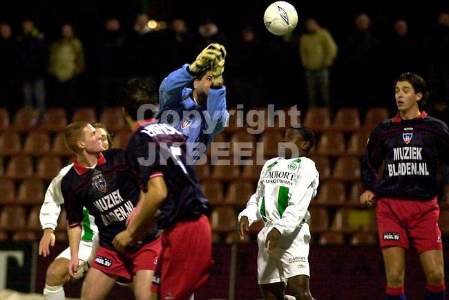 FC Groningen - Haarlem Amstel Cup 05-02-2003 seizoen 2002-2003 doelman koroglu tast mis
