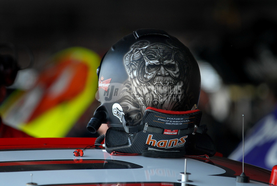 Jun 1, 2007; Dover, DE, USA; The helmet of Nascar Nextel Cup Series driver Dale Earnhardt Jr (8) during practice for the Autism Speaks 400 at Dover International Speedway. Mandatory Credit: Mark J. Rebilas-US PRESSWIRE Copyright © 2007 Mark J. Rebilas..
