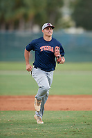 Carlos Pena (95) during the WWBA World Championship at the Roger Dean Complex on October 11, 2019 in Jupiter, Florida.  Carlos Pena attends Salisbury High School in Bayside, NY and is committed to Missouri.  (Mike Janes/Four Seam Images)