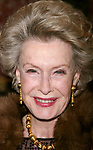 Dina Merrill attending the Opening Night performance of DIRTY ROTTEN SCOUNDRELS at the Imperial Theatre in New York City on March 3, 2005.