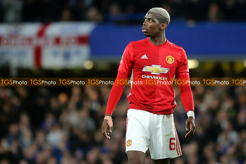Paul Pogba of Manchester United during Chelsea vs Manchester United, Emirates FA Cup Football at Stamford Bridge on 13th March 2017
