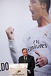 Real Madrid´s Presidetn Florentino Perez gives to Cristiano Ronaldo the Golden Boot `Bota de Oro´ 2013-14 to the best striker, at Melia Hotel in Madrid, Spain. November 05, 2014. (ALTERPHOTOS/Victor Blanco)
