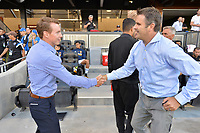 San Jose, CA - Monday July 10, 2017: Chris Leitch, Curt Onalfo prior to a U.S. Open Cup quarterfinal match between the San Jose Earthquakes and the Los Angeles Galaxy at Avaya Stadium.