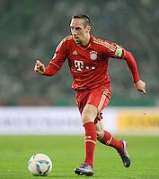 FUSSBALL   DFB POKAL   SAISON 2011/2012   HALBFINALE   21.03.2012 Borussia Moenchengladbach - FC Bayern Muenchen  Franck Ribery (FC Bayern Muenchen) am Ball