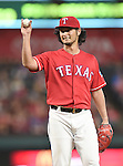 Yu Darvish (Rangers),<br /> SEPTEMBER 30, 2016 - MLB :<br /> Starting pitcher Yu Darvish of the Texas Rangers smiles on the mound during the Major League Baseball game against the Tampa Bay Rays at Globe Life Park in Arlington in Arlington, Texas, United States. (Photo by AFLO)