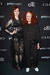 Karen Elson (left) and Grace Coddington arrive at the 2017 Clio Awards in The Tent at Lincoln Center in New York City on September 27, 2017.