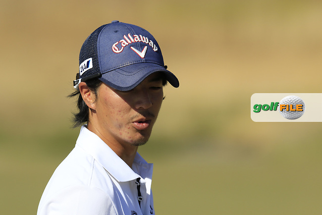 Ryo ISHIKAWA on the range during Wednesday's Practice Day of the 2015 U.S. Open 115th National Championship held at Chambers Bay, Seattle, Washington, USA. 6/18/2015.<br /> Picture: Golffile | Eoin Clarke<br /> <br /> <br /> <br /> <br /> All photo usage must carry mandatory copyright credit (&copy; Golffile | Eoin Clarke)