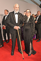 "Sir Christopher Lee and wife Gitte Lee attending the ""Rosenball"" Charity Gala in favor of the ""Stiftung Deutsche Schlaganfallhilfe"" held at the Hotel Intercontinental in Berlin, Germany, 09.06.2012...Credit: Michael Wiese/face to face /MediaPunch Inc. ***FOR USA ONLY*** NORTEPHOTO.COM"