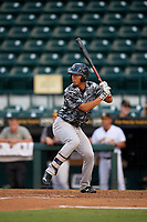 Tampa Yankees first baseman Gosuke Katoh at bat during the second game of a doubleheader against the Bradenton Marauders on June 14, 2017 at LECOM Park in Bradenton, Florida.  Tampa defeated Bradenton 5-1.  (Mike Janes/Four Seam Images)
