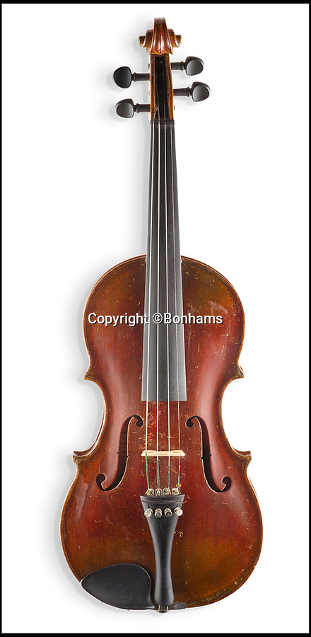 BNPS.co.uk (01202 558833)Pic: Bonhams/BNPS<br /> <br /> The violin that belonged to Albert Einstein.<br /> <br /> A violin that belonged to genius Albert Einstein who later gifted it to a janitor's son has emerged for sale for £110,000.<br /> <br /> Einstein fled Nazi Germany for America in 1933 and his arrival in the US was heralded by a cabinet maker who made a violin for Einstein.<br /> <br /> The genius later gave it to the young son of a janitor at Princeton University.<br /> <br /> It has been in the same family ever since and has now been put up for sale at auctioneers Bonhams.
