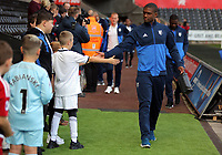 A Watford player arrives prior to the game during the Premier League match between Swansea City and Watford at The Liberty Stadium, Swansea, Wales, UK. Saturday 23 September 2017
