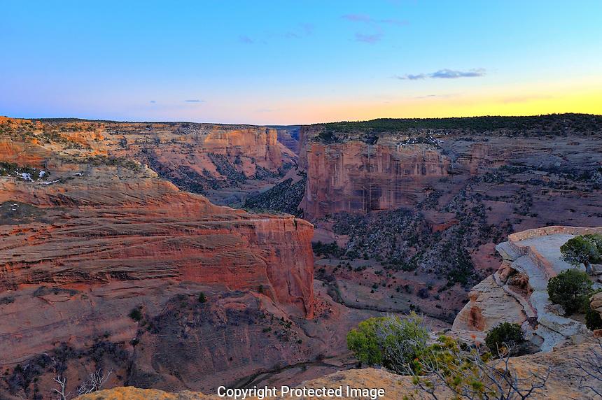 Canyon De Chelly At Dusk