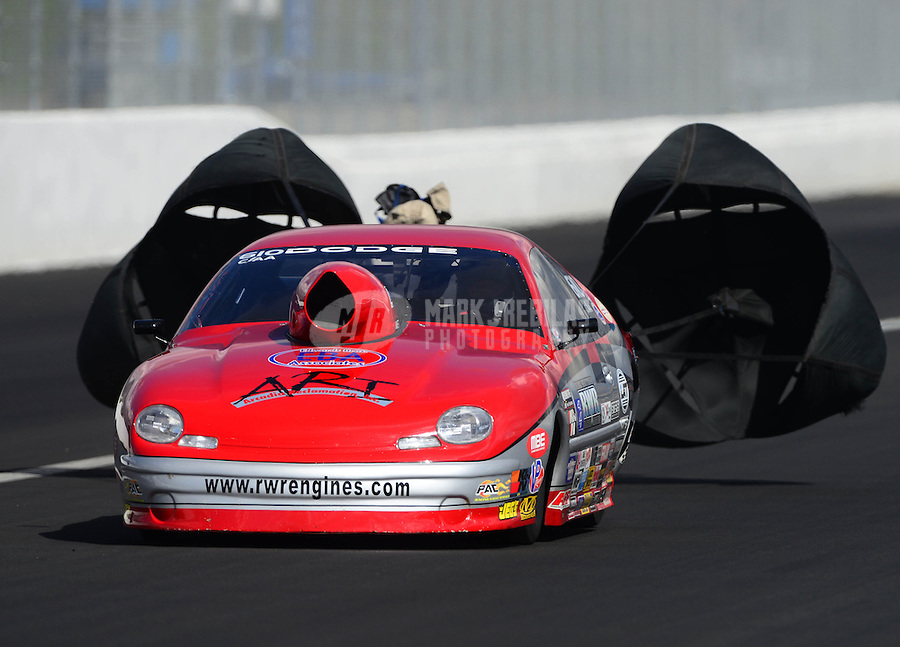 Nov. 9, 2012; Pomona, CA, USA: NHRA competition eliminator driver XXXX during qualifying for the Auto Club Finals at at Auto Club Raceway at Pomona. Mandatory Credit: Mark J. Rebilas-