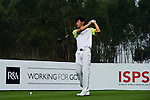 Xi Chen Wanf of China tees off during the 2011 Faldo Series Asia Grand Final on the Faldo Course at Mission Hills Golf Club in Shenzhen, China. Photo by Victor Fraile / Faldo Series