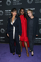 """LOS ANGELES - NOV 19:  Amirah Vann, Aja Naomi King, Liza Weil at the  """"How To Get Away With Murder"""" Final Season Celebration at Paley Center for Media on November 19, 2019 in Beverly Hills, CA"""