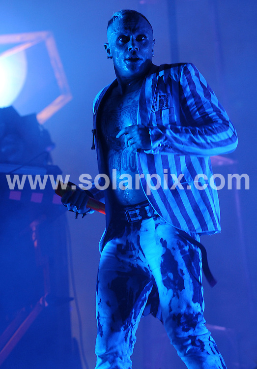**ALL ROUND PICTURES FROM SOLARPIX.COM**.**WORLDWIDE SYNDICATION RIGHTS**.The Prodigy perform live at V Festival, Chelmsford, UK. 16th August 2008..JOB REF: 7034 SSD     DATE:.**MUST CREDIT SOLARPIX.COM OR DOUBLE FEE WILL BE CHARGED* *UNDER NO CIRCUMSTANCES IS THIS IMAGE TO BE REPRODUCED FOR ANY ONLINE EDITION WITHOUT PRIOR PERMISSION*