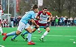 ALMERE - Hockey - Hoofdklasse competitie heren. ALMERE-HGC (0-1) . Jonas de Geus (Almere)   . links Tristan Algera (HGC) .  COPYRIGHT KOEN SUYK