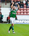 HIBERNIAN'S IVAN SPROULE CELEBRATES  AFTER HE SCORES HIBS FIRST