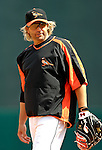 9 March 2007: Baltimore Orioles infielder Kevin Millar warms up prior to facing the Washington Nationals at Fort Lauderdale Stadium in Fort Lauderdale, Florida. <br /> <br /> Mandatory Photo Credit: Ed Wolfstein Photo