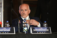 Barry McGuigan during a Press Conference at the Park Plaza on 9th September 2019
