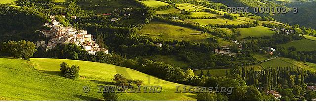 Tom Mackie, LANDSCAPES, panoramic, photos, View over Preci, Valnerina, Umbria, Italy, GBTM090102-3,#L#