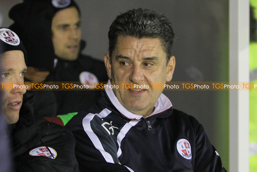 Crawley Town Manager John Gregory - Crawley Town vs Bristol Rovers - FA Challenge Cup 2nd Round Replay Football at the Broadwood Stadium, Crawley, West Sussex - 18/12/13 - MANDATORY CREDIT: Simon Roe/TGSPHOTO - Self billing applies where appropriate - 0845 094 6026 - contact@tgsphoto.co.uk - NO UNPAID USE