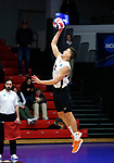 KENOSHA, WI - APRIL 28:  Springfield College's Sergio Figuroa Velez serves up a kill at the Division III Men's Volleyball Championship held at the Tarble Athletic and Recreation Center on April 28, 2018 in Kenosha, Wisconsin. (Photo by Steve Woltmann/NCAA Photos via Getty Images)
