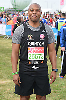 Quinton Fortune at the start of the 2017 London Marathon on Blackheath Common, London, UK. <br /> 23 April  2017<br /> Picture: Steve Vas/Featureflash/SilverHub 0208 004 5359 sales@silverhubmedia.com