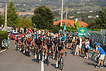 Team Sky control the pace during Stage 19 of the 2017 La Vuelta, running 149.7km from Caso. Parque Natural de Redes to Gij&oacute;n, Spain. 8th September 2017.<br /> Picture: Unipublic/&copy;photogomezsport | Cyclefile<br /> <br /> <br /> All photos usage must carry mandatory copyright credit (&copy; Cyclefile | Unipublic/&copy;photogomezsport)