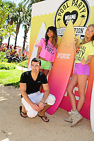 MIAMI BEACH, FL - MARCH 14: Chanel Iman, Joe Jonas and Elsa Hosk attend Victorias Secret Pink Nation Hosts Spring Break at The Shelborne on March 14, 2012 in Miami Beach, Florida. (photo by: MPI10/MediaPunch Inc.)