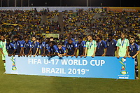 17th November 2019; Bezerrao Stadium, Brasilia, Distrito Federal, Brazil; Final FIFA U-17 World Cup Final match 2019, Mexico versus Brazil; Players of France, poses for photo after winning the third place match earlier in the day